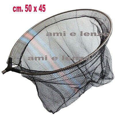 testa di guadino testata retino per manico palo filettato pesca trota lago mare