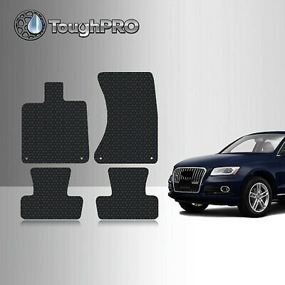 ToughPRO Floor Mats Black For Audi Q5 All Weather Custom Fit 2009-2017