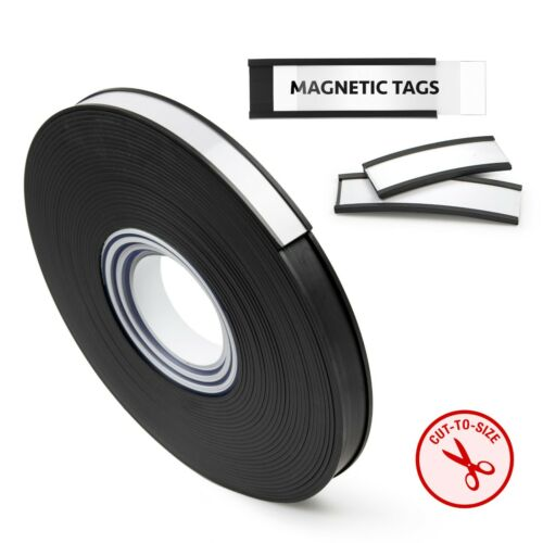 "50 Foot Roll -""C"" Channel Magnetic Label Holder Roll with Insert Cards and Clear"