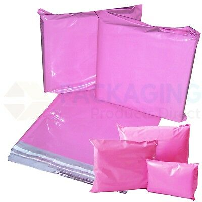 20 x Strong Large PINK Postal Mailing Bags Sacks 19x29