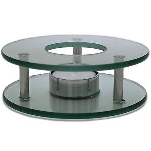 GASTRO Stövchen Teewärmer Teekanne Glas Edelstahl Speisenwärmer Warmhalteplatte