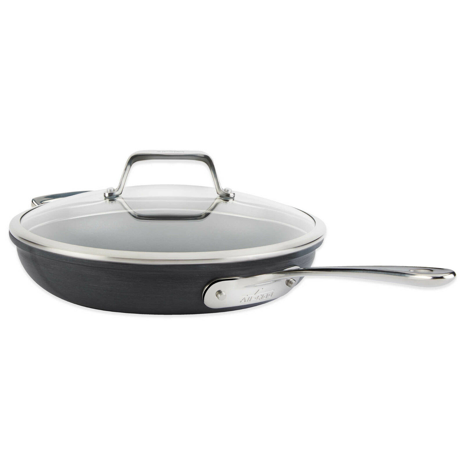 All Clad 12In B1 Fry Pan & All-Clad Lid Stainless Hard Anodi