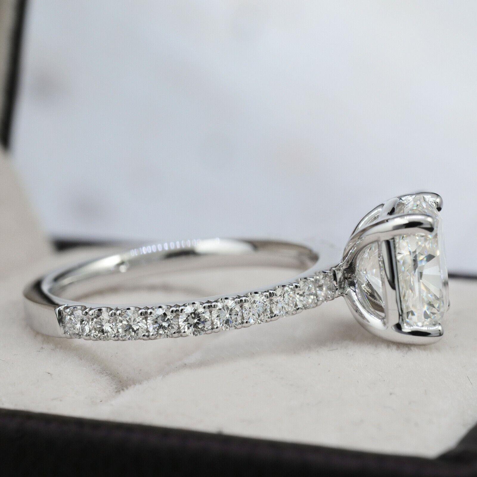 Dazzling 2.10 Ct. Cushion Cut Diamond Engagement Ring Bridal Set GIA Certified 1