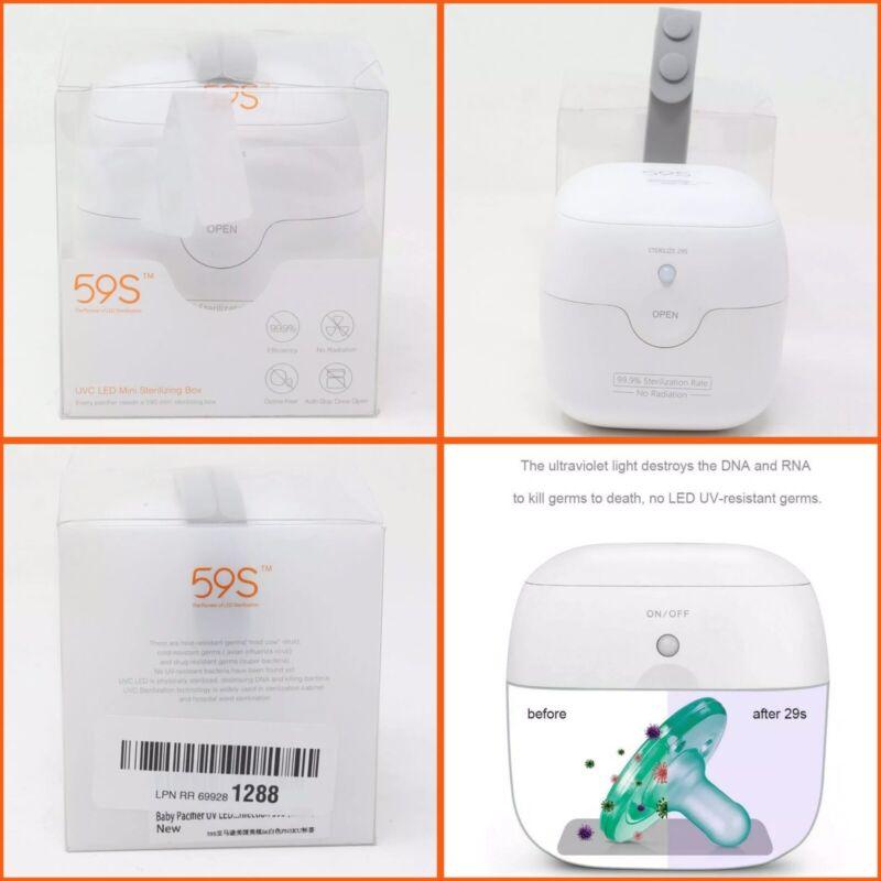 Baby Nipple Pacifier Sterilizer Storage Box UV Kill Germs Protection Viral 59s