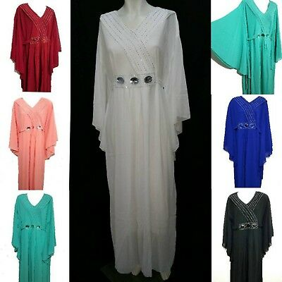 Maxi Dress Kaftan Kimono Sleeves Farasha Evening Dress Butterfly Look Butterfly Butterfly Chiffon Evening Gown