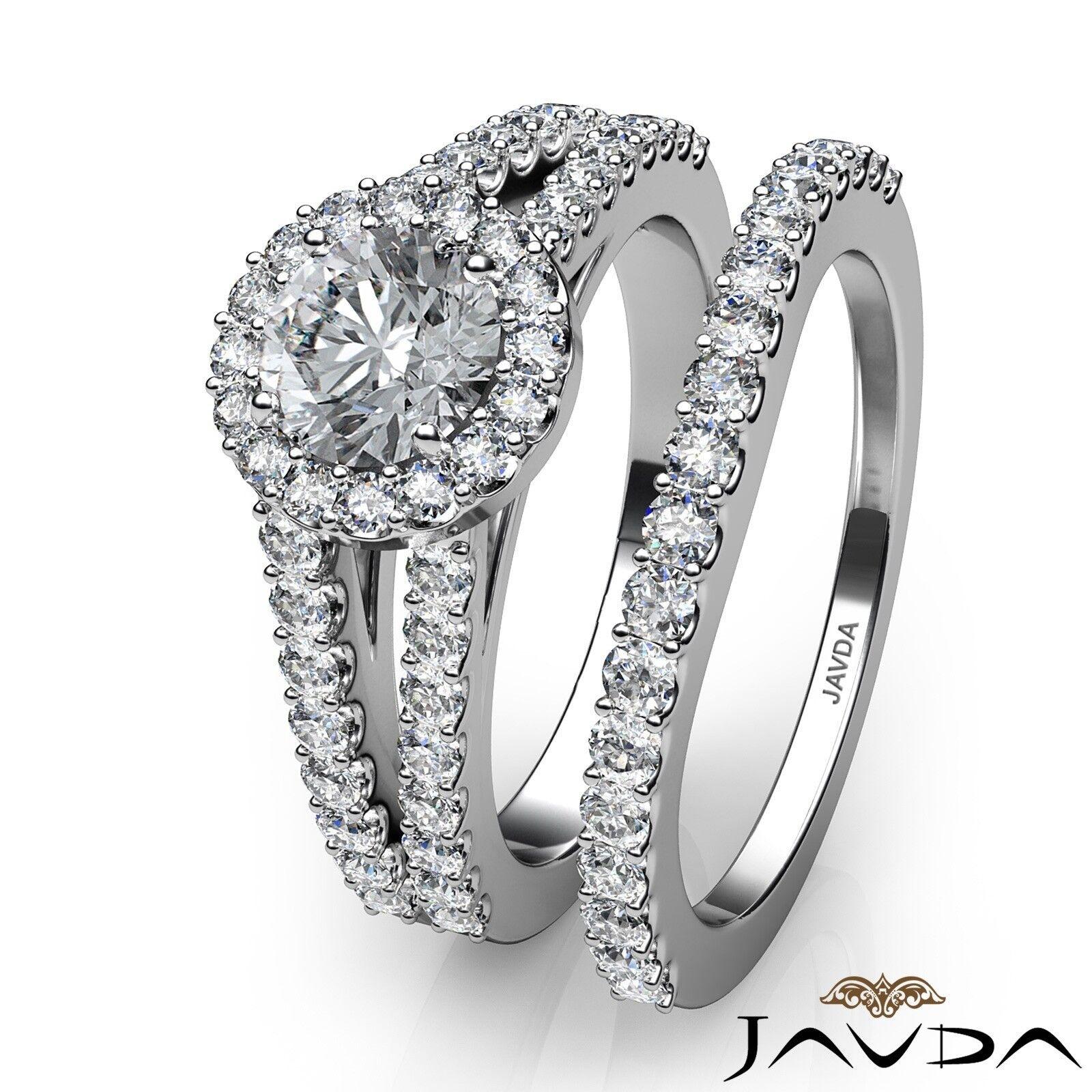1.85ctw Luxurious Wedding Bridal Round Diamond Engagement Ring GIA G-VVS1 W Gold 3