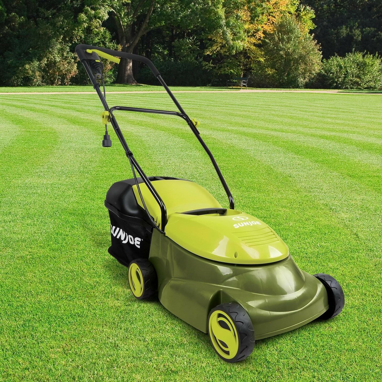 14 Inch 12 Amp Electric Corded Lawn Mower Push Behind Home G
