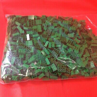 LEGO 2x3 GREEN BRICKS JOBLOT PARTS BUNDLE CITY BRICKS 1KG