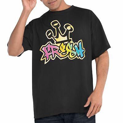 Camiseta Fresh Hip Hop Hombre Rapero Gánster Disfraz Adulto Accesorio 80s 1980