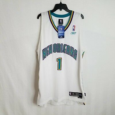 054bedfe5 New Vintage Reebok Baron Davis Charlotte New Orleans Hornets  1 Sewn Jersey  XL for sale