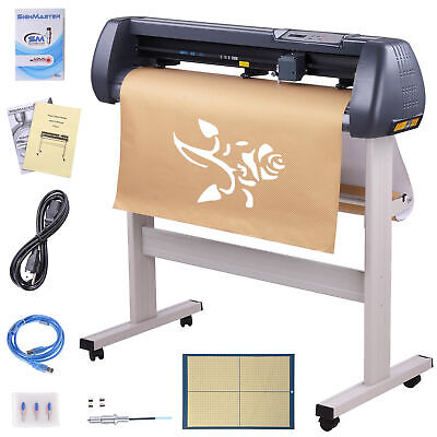 34 Vinyl Cutter Machine 870mm Sign Cutting Plotter Signmaster Software 3 Blades