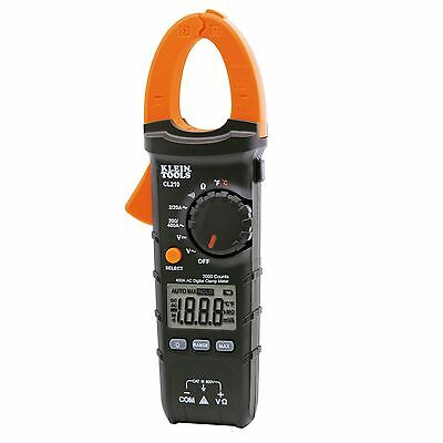 Klein Tools Cl210 400a Ac Auto-ranging Digital Clamp Meter W Temperature