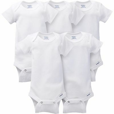 WHITE WHOLESALE ONESIES LOT of 30 03 M Layette Humanitarian Kit 3m bodysuits