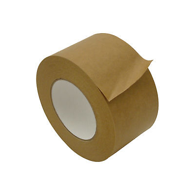 Jvcc Fppt-01 Kraft Flatback Paper Packaging Tape 3 In. X 60 Yds. Brown