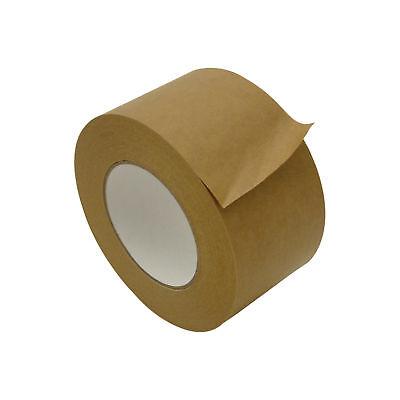 Jvcc Fppt-01 Kraft Flatback Paper Packaging Tape 3 In. X 60 Yds. Brown