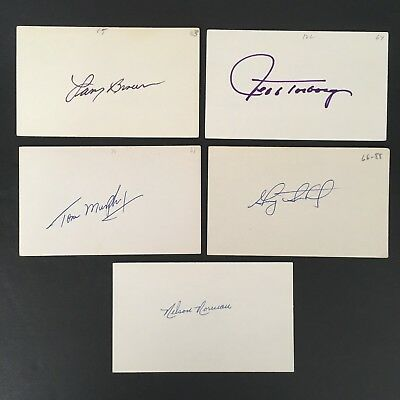 VINTAGE MLB LOT #17 (5) HAND SIGNED AUTOGRAPHS NORMAN/MURPHY/BROWN/SUTHERLAND!!
