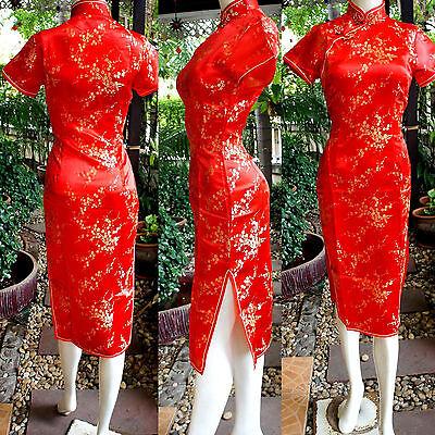 Asia Miss China/Japan Qipao/Geisha-Kleid/Kostüm Cheongsam Rot - Geisha Kleid Rot Kostüm