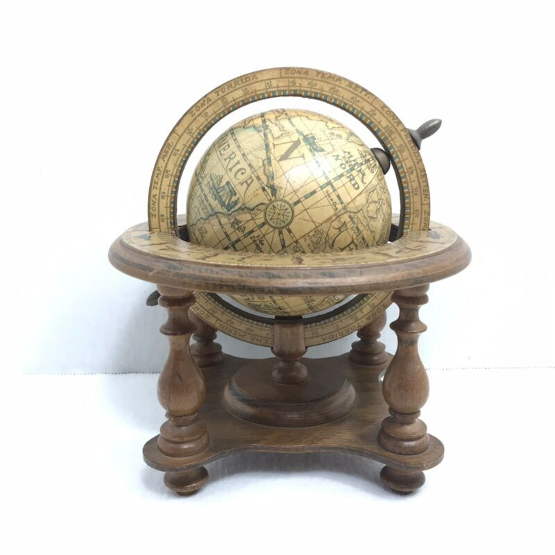 Globe With Zodiac Made In Italy