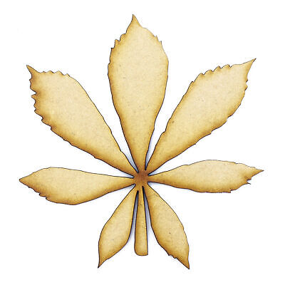 Horse Chestnut Leaf (Horse Chestnut Leaf cut from 3mm MDF, Craft Blanks, Shapes, Tags, Autumn Leaf )