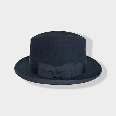 1950s Mens Hats | 50s Vintage Men's Hats Vtg 1950s CHAMP Homburg Fedora 7 1/4 hat 50s Bound Edge wind trolley KETTLE CURL $149.99 AT vintagedancer.com