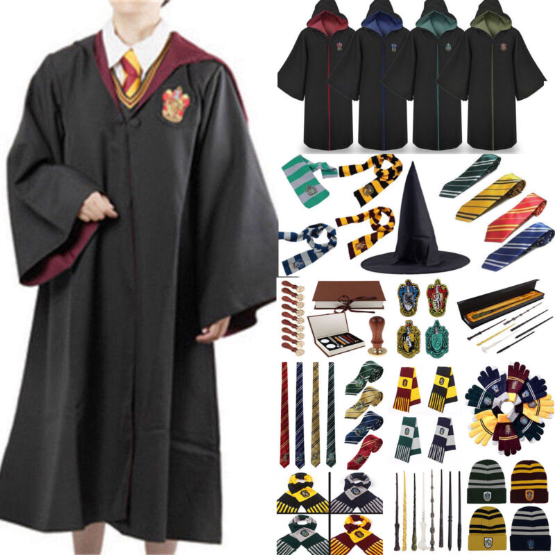 Harry Potter Kostüm Umhang Schal Krawatte Socken Gryffindor Halloween Karneval