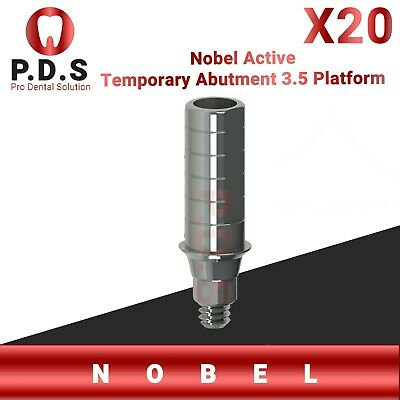20x Dental Implant Nobel Active 3.5 Temporary Straight Abutment Screw Dentist
