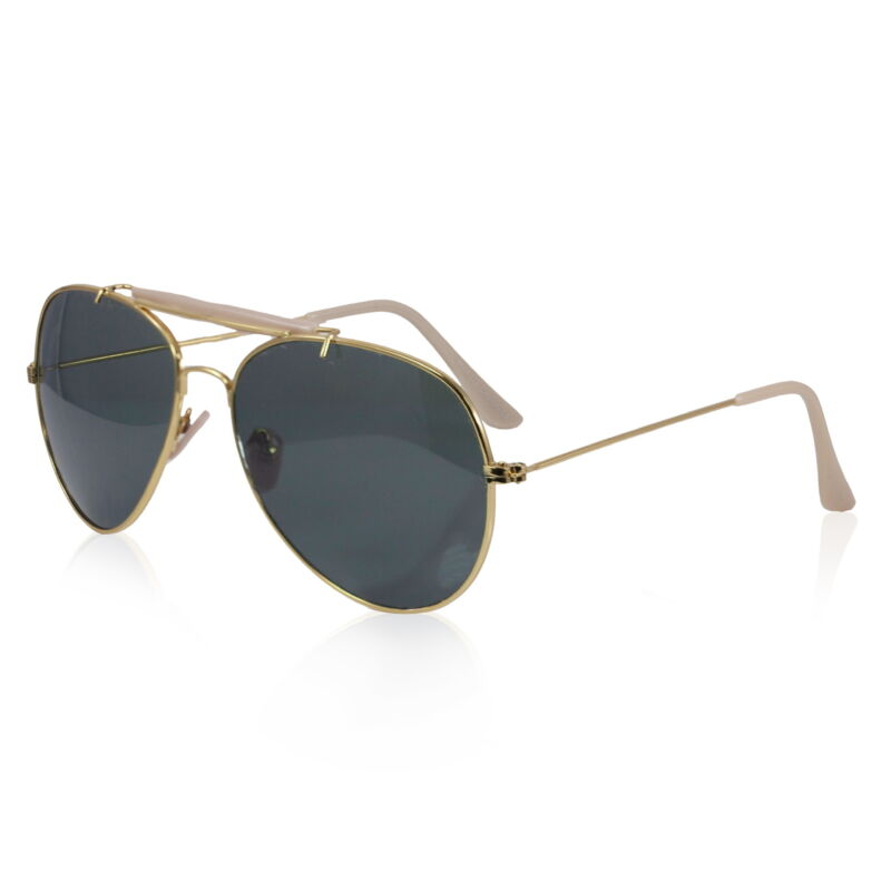 Vintage VTG 1970s 70s Gold Aviator Shades Sunglasses