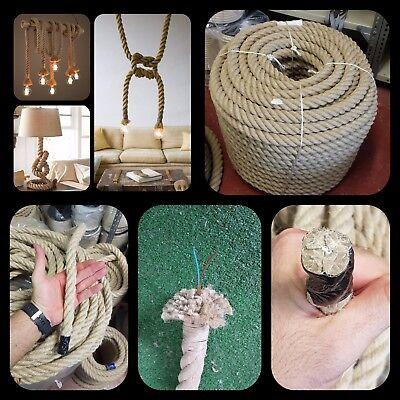Cuerda soga rope cañamo 20mm lampara luz cable 2cm electrico decoracion