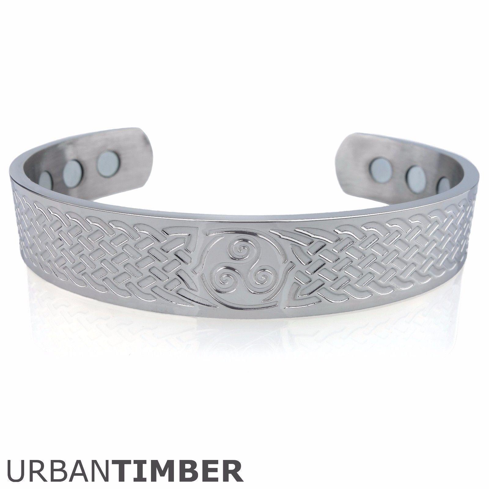 ARMREIF VIKING EDELSTAHL TRISKELE Knoten Wikinger Mittelalter Schmuck Armband