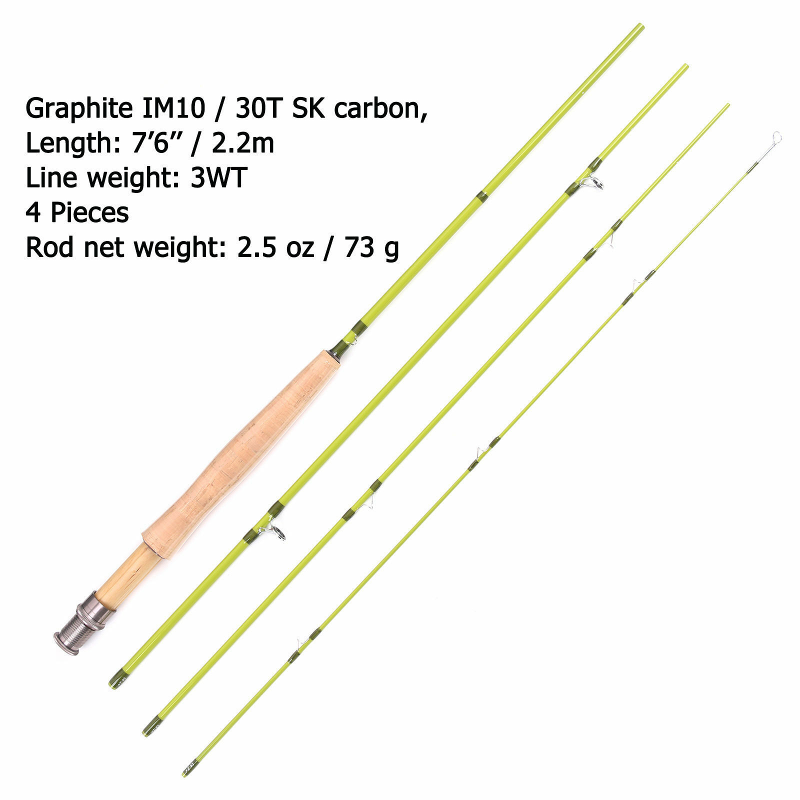 Fly fishing rod reel combos fly rod 3wt 7 39 6 39 39 4sec 3 4wt for Fly fishing backing