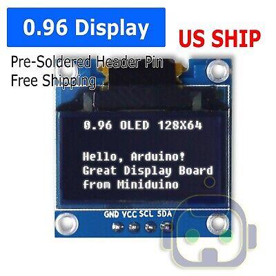 Us 0.96 I2c Iic Serial 128x64 Led Oled Lcd Display Module For Arduino White