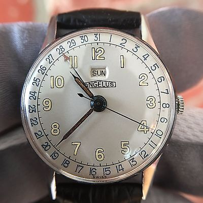 Vintage Angelus Day Date Cal. 254