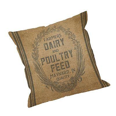 throw pillow case vintage burlap feed sack