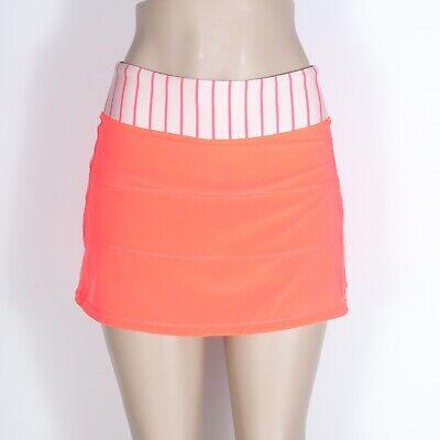 "lululemon Pace Rival Pleat Skirt/skort 13"" 4-way Stretch stripe waist band 4"