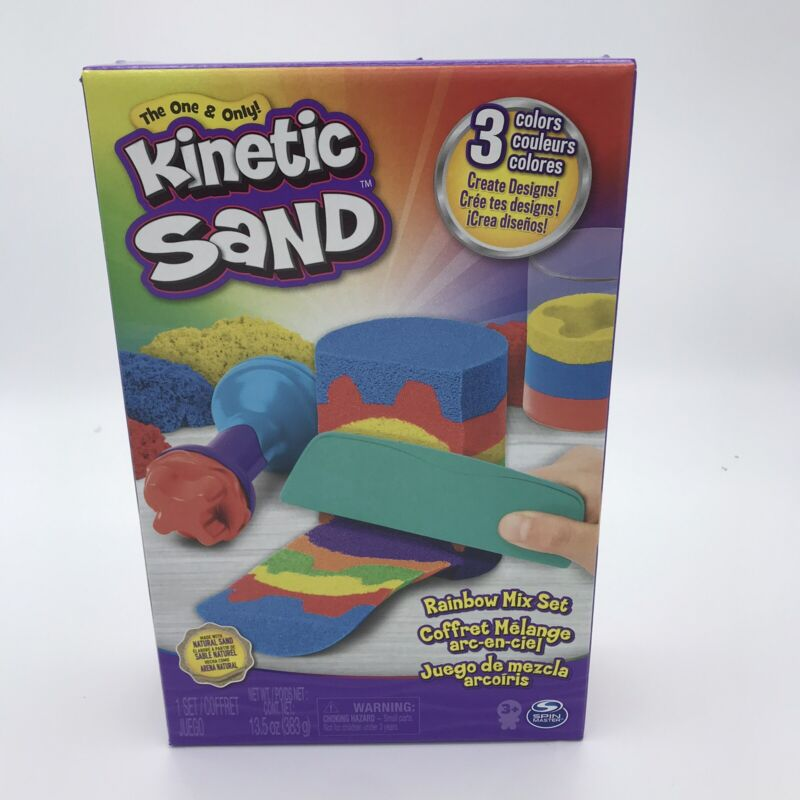 Kinetic Sand~Rainbow Mix Set~by Spin Master New