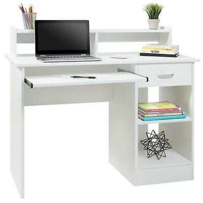 Computer Desk Home Office Laptop PC Table Workstation w/ Drawer Keyboard Tray