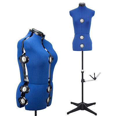 Gex Adjustable Dress Form Sewing Female Mannequin Torso Stand Small 13-dial