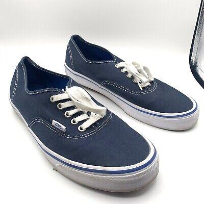 Vans Men Shoes Authentic Navy Blue Canvas Lace Up Classic Sneakers Size 11.5