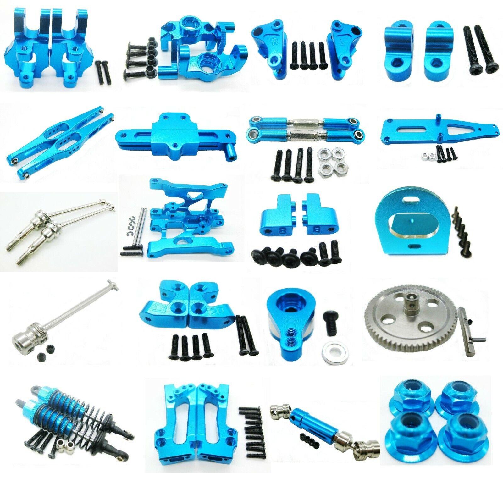 Car Parts - Aluminum Metal DIY Parts For 1/12 WLtoys 12428 12423 RC Car Upgrade Parts Blue