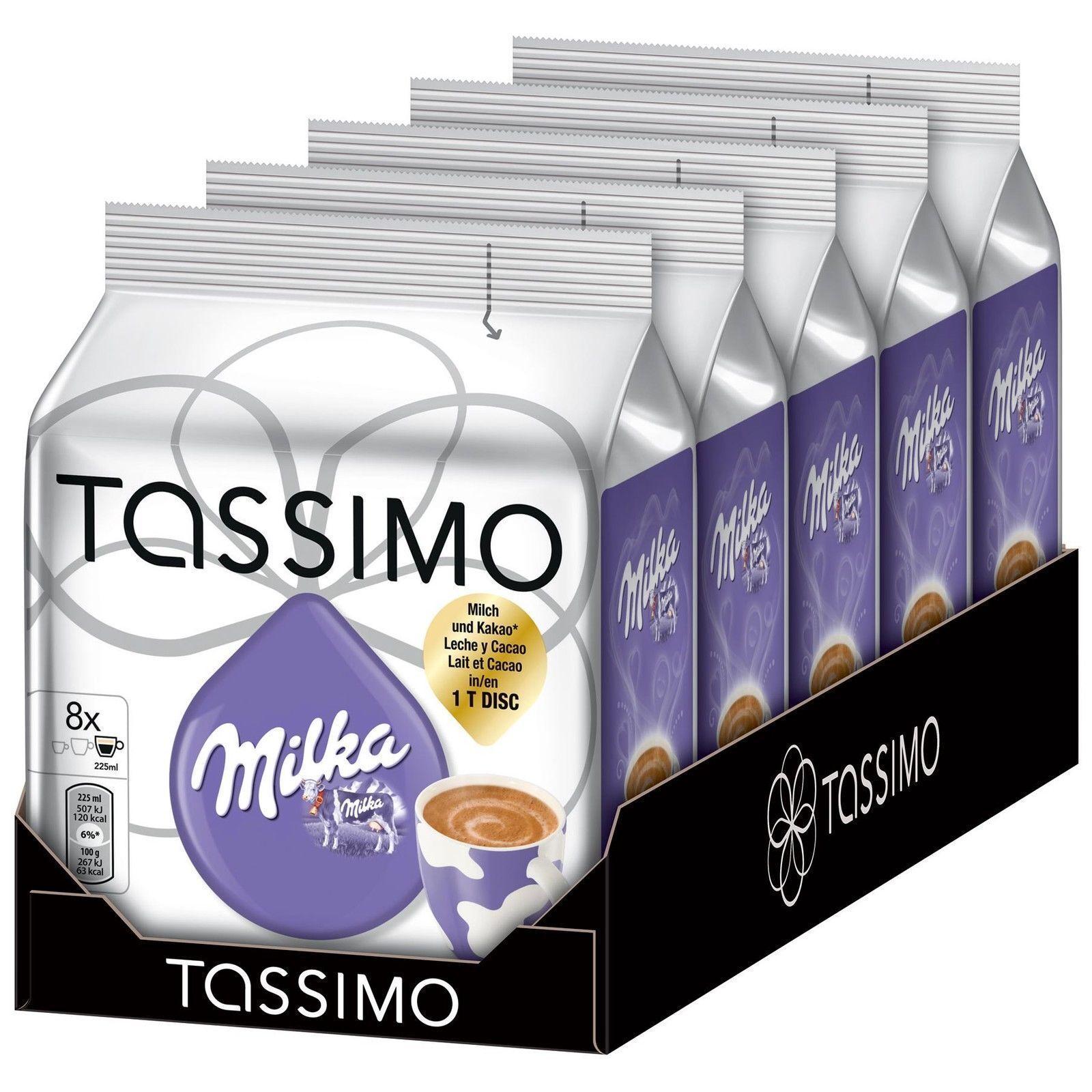 Tassimo Milka Hot Chocolate 8 Drinks 225ml Coffee Tdisc Pods Capsules Uk Seller