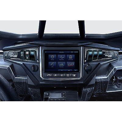 Dash Panel Aluminum Pair w/ Illuminated Switch Black fits Polaris RZR XP1000