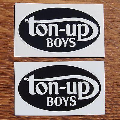 Motorcycle Biker Helmet Tank Rockers Cafe Racer Ton Up Boys Stickers TON UP BOYS