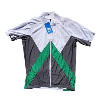 Netti Green/White Cycling Jersey (SIZE:XL) UNISEX