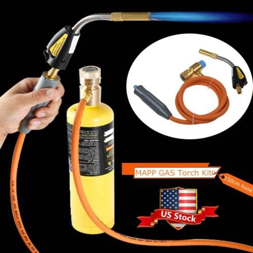 Mapp Gas Plumbing Turbo Burner Torch Propane Soldering Brazing Welding Kit Set