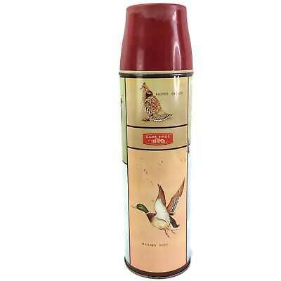 1950's Vintage King Seeley Game Birds Quart Size Thermos