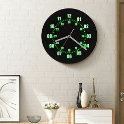 Military Pattern Round Wall Clock with Backlight 24 Hours Display Zulu Time