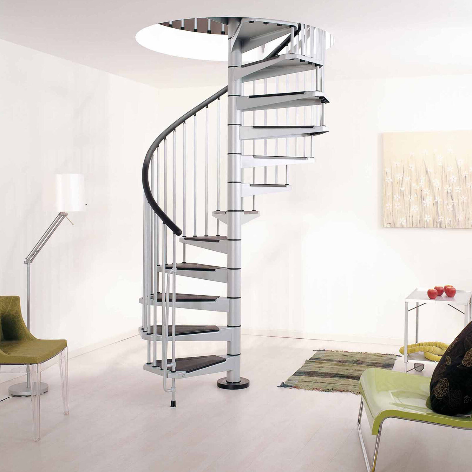 Details About Arke Fontanot Civik Spiral Staircase Diy Stair Kit 120 140 160cm 3 X Colours