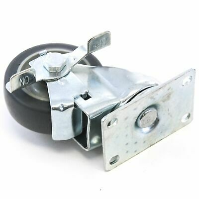 1 Plate Caster With 3 38 Polyurethane Wheel Swivel With Side Brake Base