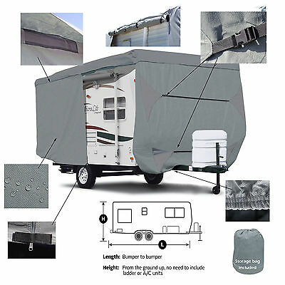 Deluxe Starcraft AR One 18FB Travel Camper Trailer Cover w/ Zipper Door Access