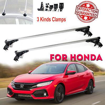 Aluminum Roof Rack Cargo Car Top Luggage Cross Bars For Honda Accord Civic 06-17
